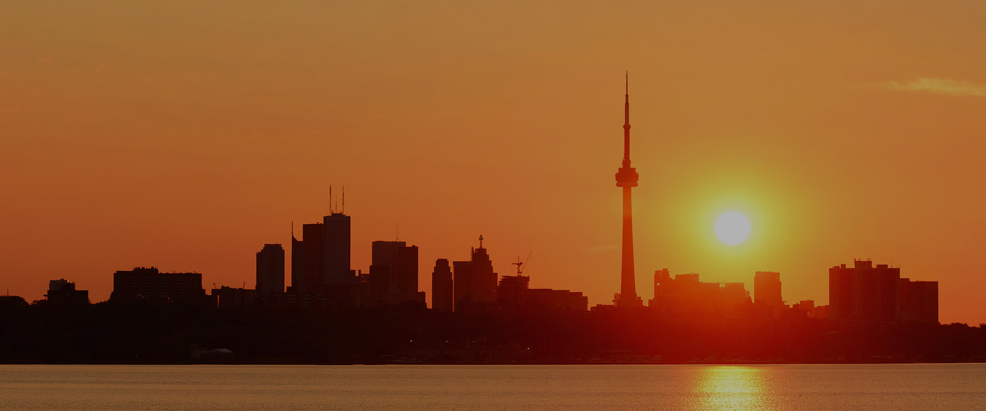 Toronto skyline in the morning